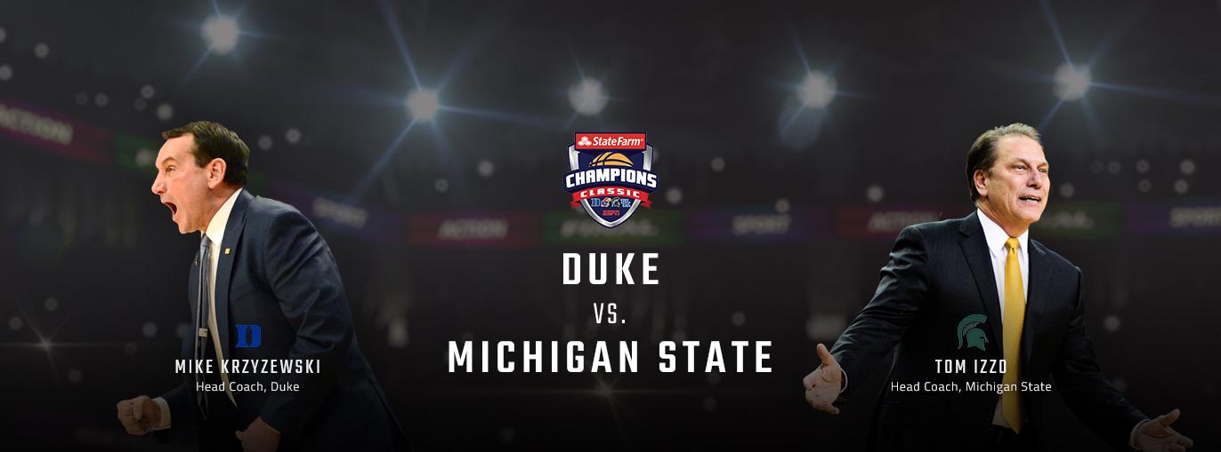 Game Preview: Michigan State Spartans vs Duke Blue Devils   Champions Classic