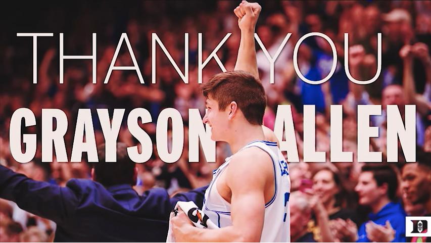 Grayson Allen's Senior Night Speech