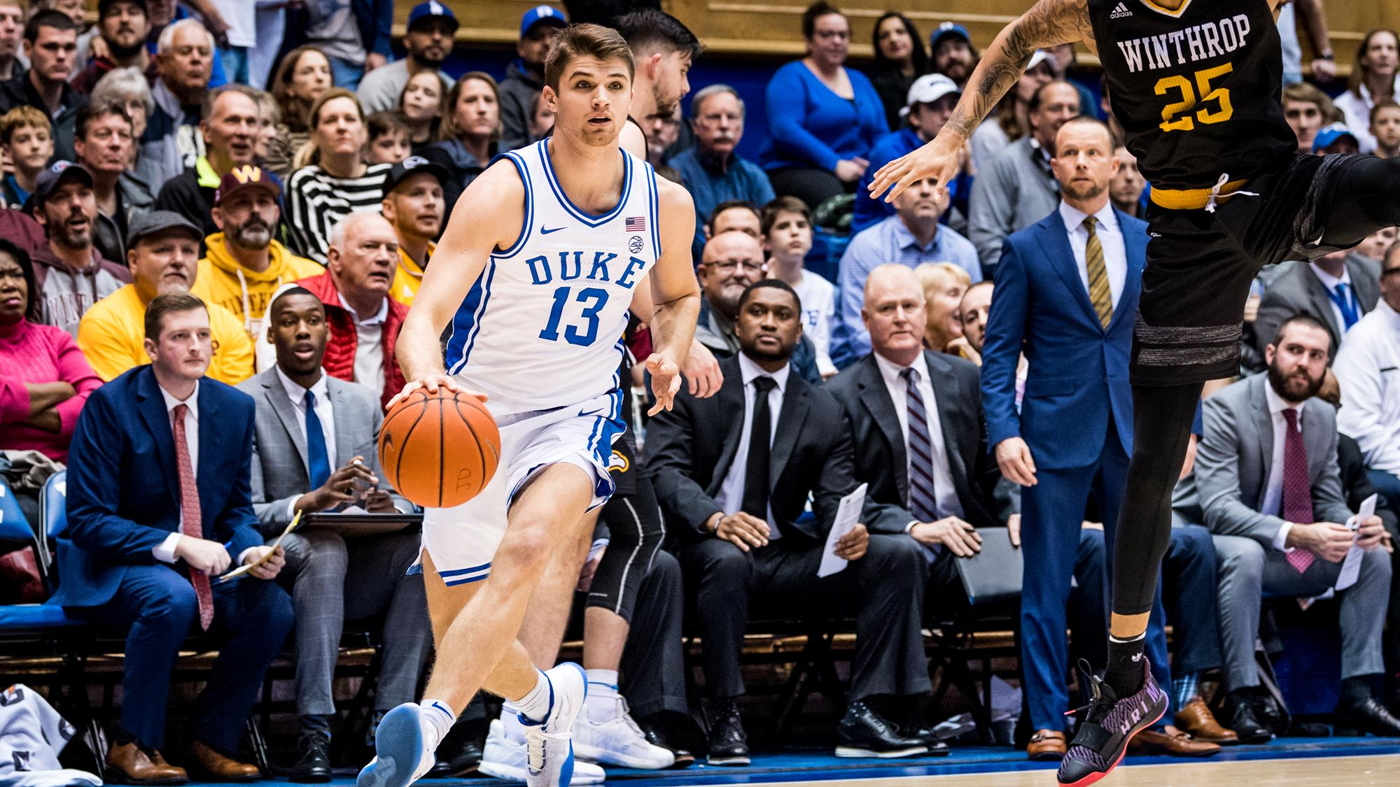 Blue Devils Pull Away Late Against Winthrop 83-70
