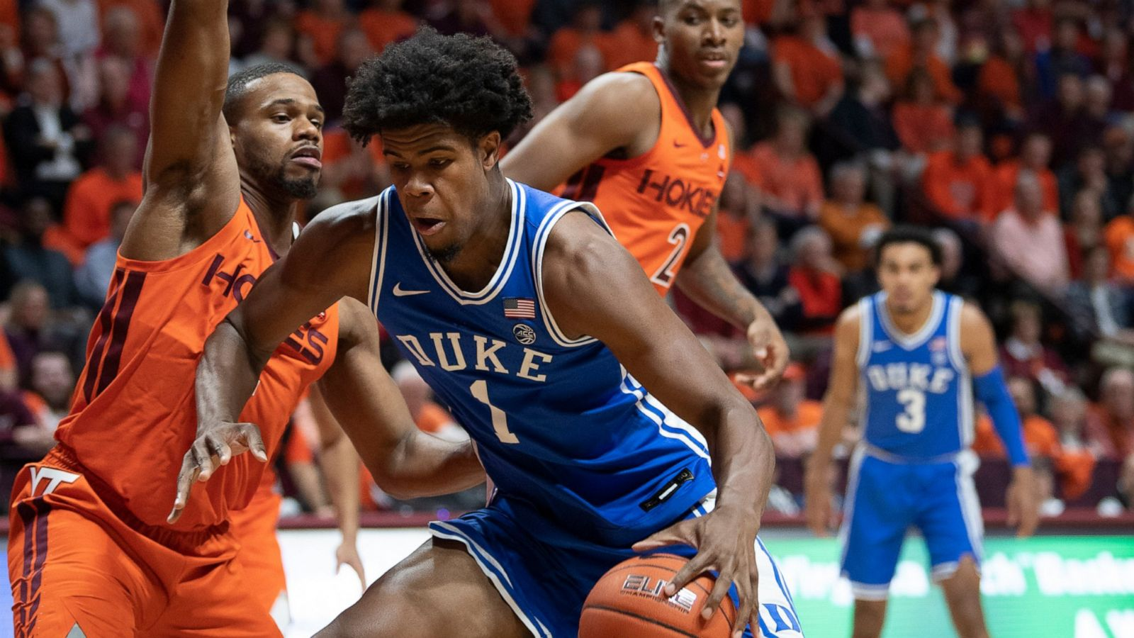 Duke Stumbles but Recovers at Virginia Tech 77-63; Tre Jones Scores 15; Duke Scores 35 Bench Points