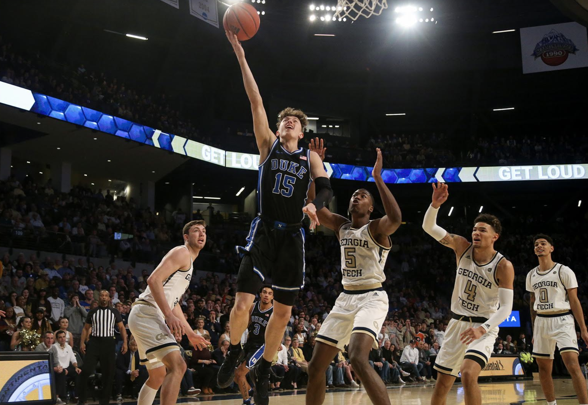 Duke Wins Road Grudge Match at Georgia Tech 73-64; Tre Jones with 16 points, 8 rebounds, 7 assists; Cassius Stanley with 14 Points