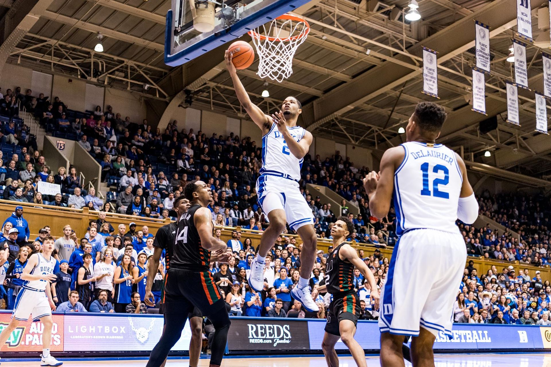 Duke Puts the Hurt on Miami Earning Season Sweep 89-59; Matthew Hurt Scores 22; Tre Jones with 6 Assists