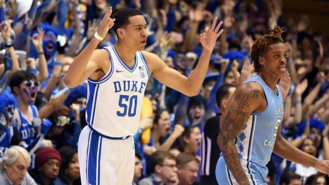 Duke Downs the Tar Heels in the Rematch 89-76 to Earn Season Sweep; Carey Jr with 25; Jones with 21