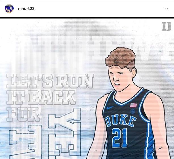 Matthew Hurt Announces He Will Return for Sophomore Season at Duke