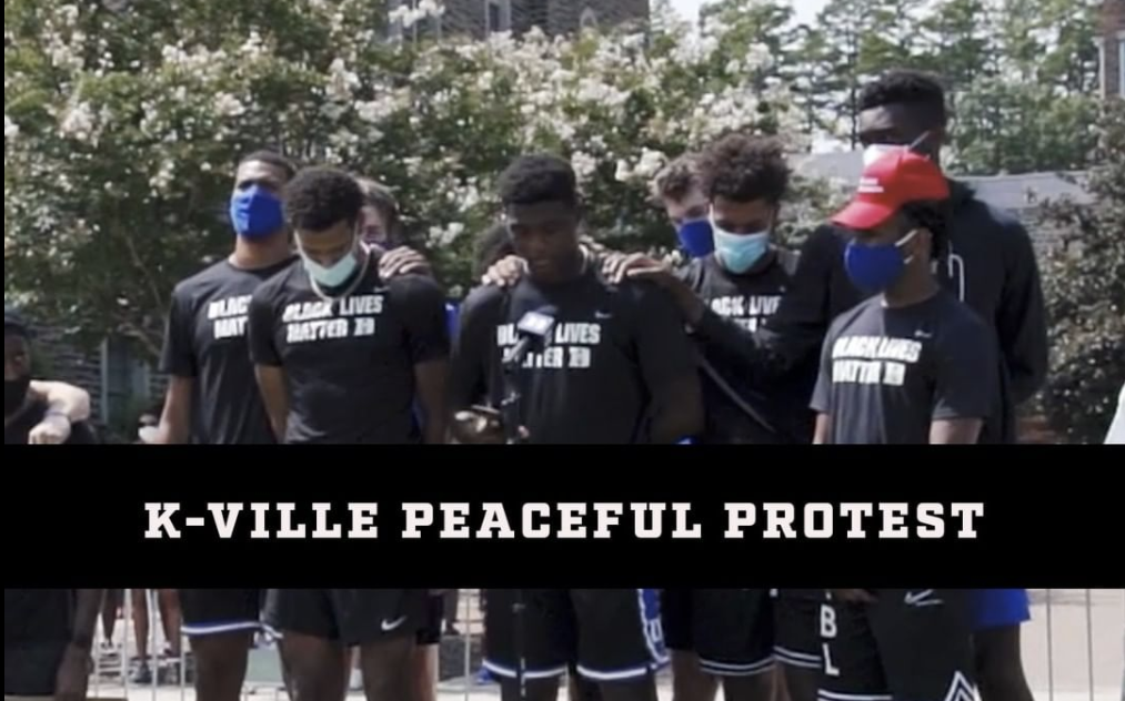 Duke Men's Basketball Leads Peaceful Protest on Campus