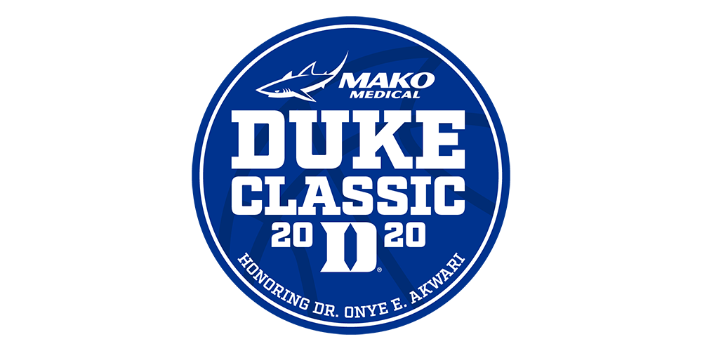 Men's Basketball to Host Mako Medical Duke Classic Honoring Dr. Onye E. Akwari