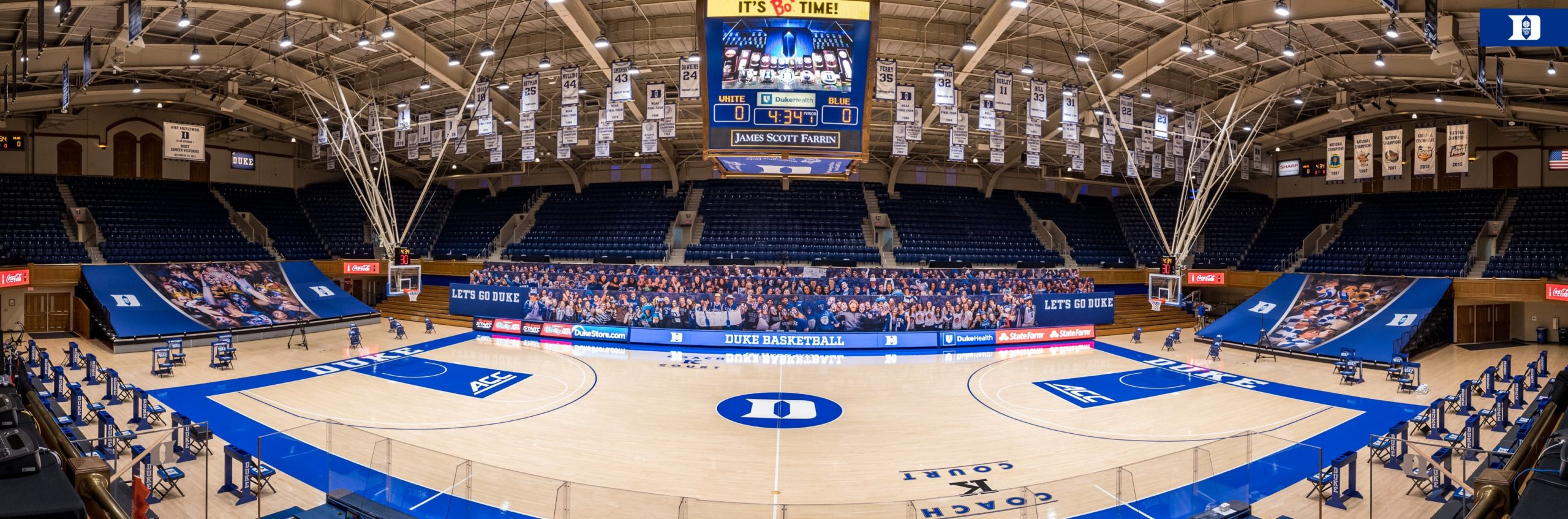 No. 9 Duke Preps for Opener with Final Blue-White Scrimmage