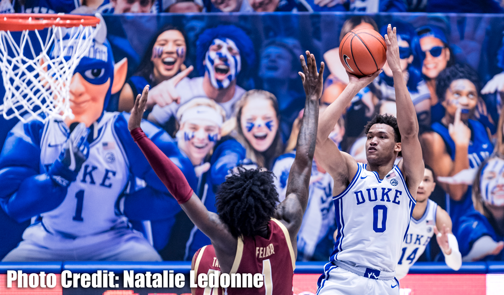 Blue Devils Eke by Against BC (83-82) on the Strength of Wendell Moore's 25 Points